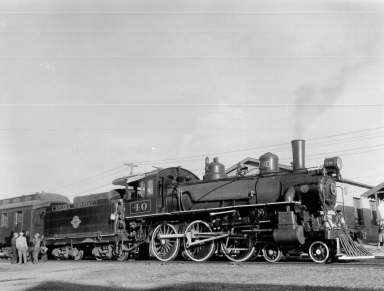 #40 with Excursion in East Ely Yard