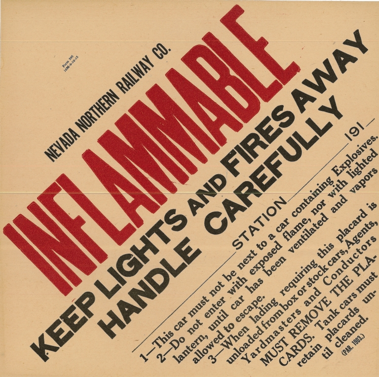 NNRy Inflammable Placard