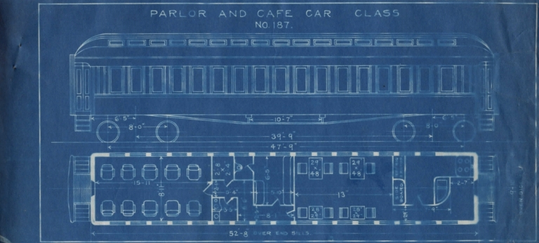 Parlor and Cafe Car Class No. 187