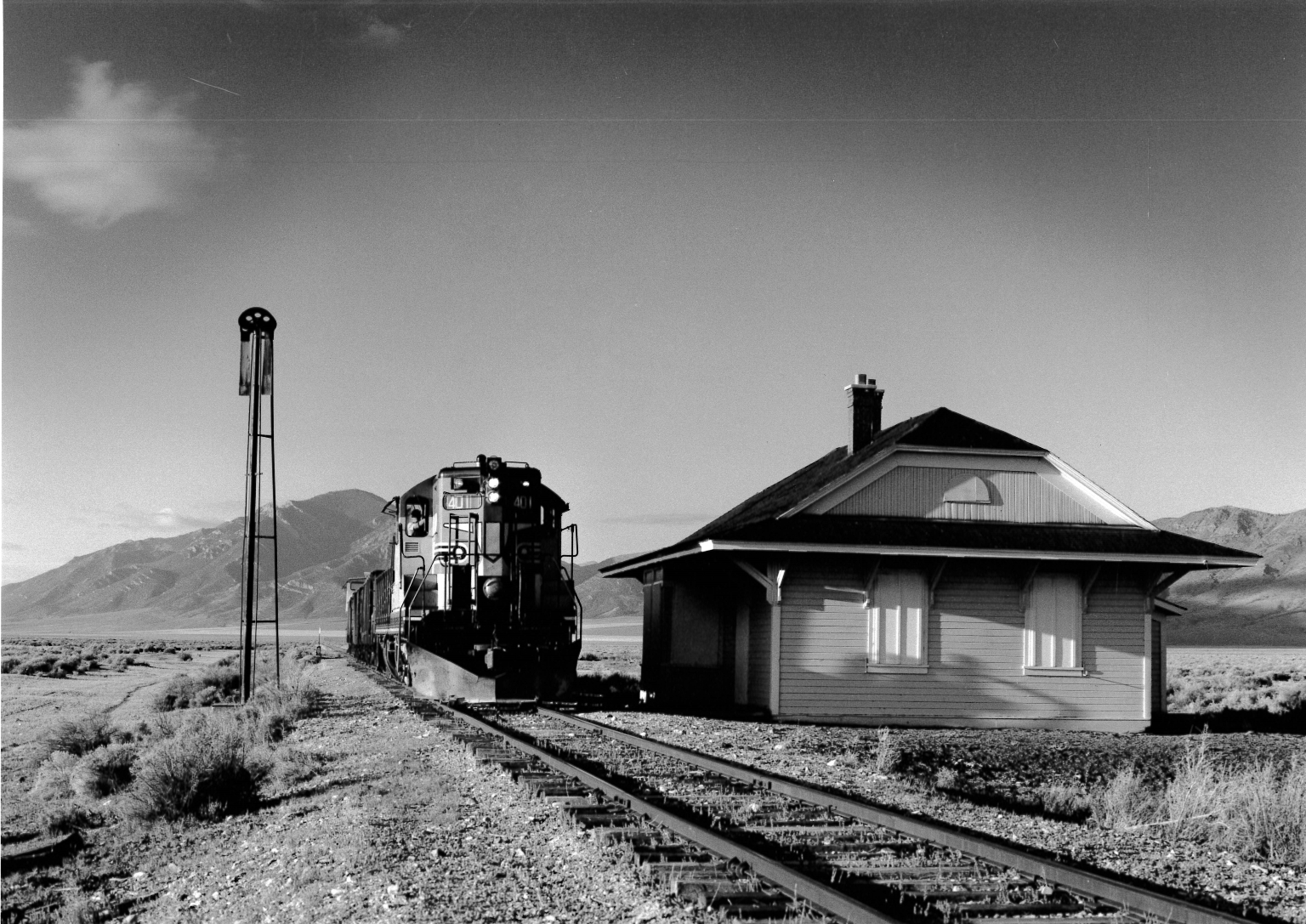 #401 with Freight at Cherry Creek
